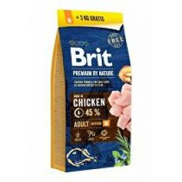 Brit Premium Dog by Nature Adult M 15kg + 3kg