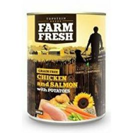 Farm Fresh Dog Chicken&Salmon with Potatoes konz 800g