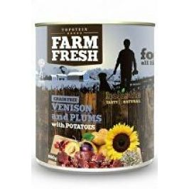 Farm Fresh Dog Venision&Plums+Potatoes konzerva 800g