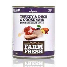 Farm Fresh Dog Turkey&Duck&Goose+Plums konzerva 800g