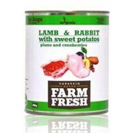 Farm Fresh Dog Lamb&Rabbit+Sw.Potatoes&Plum konze 800g