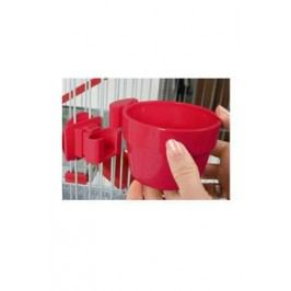 Miska plastová na mřížku klece červená 9,5cm Zolux