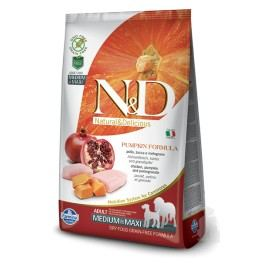 N&D GF Pumpkin DOG Adult M/L Chicken&Pomegranate 12kg + Doprava zdarma