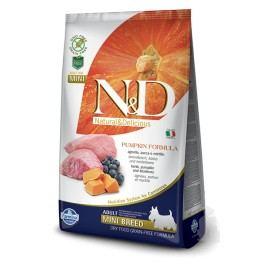 N&D GF Pumpkin DOG Adult Mini Lamb & Blueberry 7kg + Doprava zdarma + zásobník na krmivo zdarma (do vyprodání)