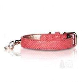 Obojek kožený Růžový 45cm/2cm 1ks M&P