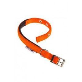 Obojek nylon DAYTONA C 45cmx25mm oranžový FP 1ks
