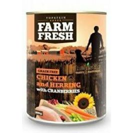 Farm Fresh Dog Chicken&Herring+Cranberries konzer 400g