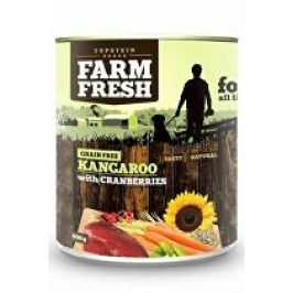 Farm Fresh Dog Kangaroo with Cranberries konzerva 800g