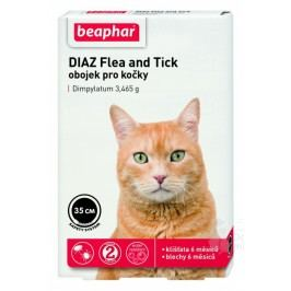 Beaphar Obojek antipar.kočka DIAZ Flea&Tick 35cm 1ks + Množstevní sleva