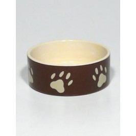Miska keramická pes s béž.tlapkami Hnědá 0,3l 12cm TR