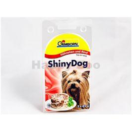 Konzerva SHINY DOG - kuře a hovězí 2x85g