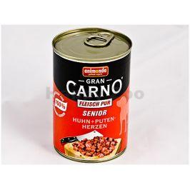 Konzerva GRAN CARNO Senior hovězí a krůtí srdce 400g