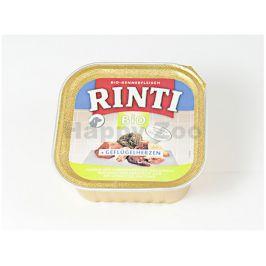 Paštika RINTI BIO - drůbeží srdíčka 150g