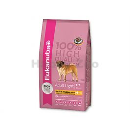 EUKANUBA Adult Small & Medium Breed Light 15kg