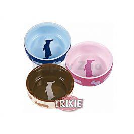 Keramická miska TRIXIE pro králíky barevná 250ml (11cm) (MIX BAR
