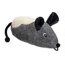 Škrabadlo FLAMINGO - závěsná obří myš s catnipem 40x16x14cm