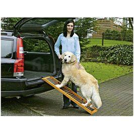 Rampa pro psy do auta FLAMINGO dřevěná120x30x6cm