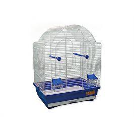 Klec BIRD JEWEL K9 bílomodrá 45x33,5x59cm