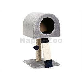 Škrabadlo FLAMINGO Tiny Tabby IV modro-šedé 30x32x55cm