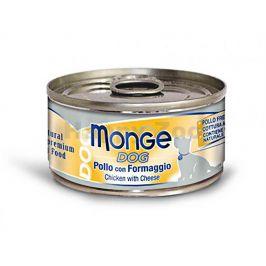Konzerva MONGE Dog - kuřecí se sýrem 95g