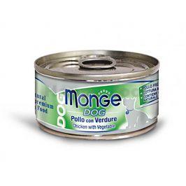 Konzerva MONGE Dog - kuřecí se zeleninou 95g