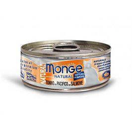 Konzerva MONGE Cat - tuňák a losos 80g