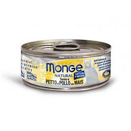 Konzerva MONGE Cat - tuňák, kuře a kukuřice 80g