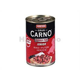 Konzerva GRAN CARNO Junior hovězí a krůtí srdce 800g