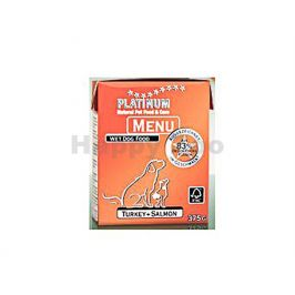 Konzerva PLATINUM Menu Turkey and Salmon 375g