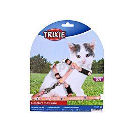 Postroj s vodítkem pro kotě TRIXIE s motivem Kitty Cat 21-33x0,8