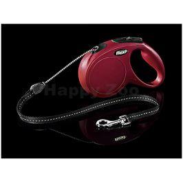FLEXI New Classic Cord (M) - červené (do 20kg, 5m lanko)