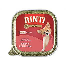 Paštika RINTI Gold Mini - hovězí a perlička 100g