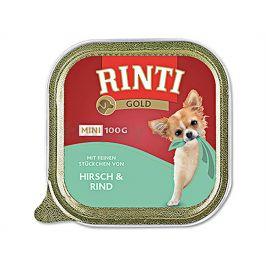 Paštika RINTI Gold Mini - jelen a hovězí 100g