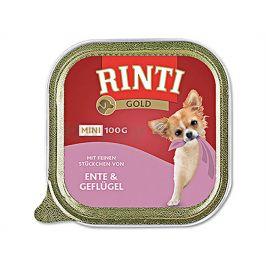 Paštika RINTI Gold Mini - kachna a drůbež 100g