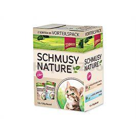 Kapsička SCHMUSY Nature Flakes Kitten Multipack - 2x6x100g
