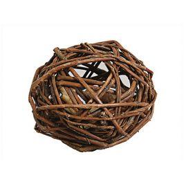Hračka pro hlodavce FLAMINGO - proutěný míč s jablkem 7cm