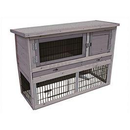 Dřevěná klec pro králíky FLAMINGO Loft Cottage 111x45x78cm