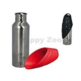 Cestovní láhev TRIXIE kovová s plastovou miskou 750ml