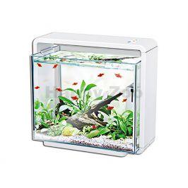 Akvarijní set HAILEA Biotop Nature E-40 bílý (40l, 7W) 47x25x42,