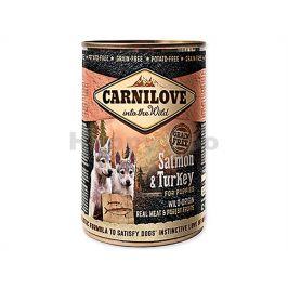 Konzerva CARNILOVE Salmon & Turkey for Puppies 400g