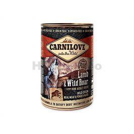 Konzerva CARNILOVE Lamb & Wild Boar for Adult Dogs 400g