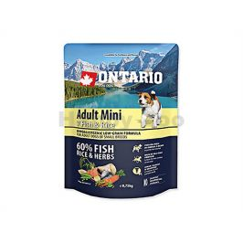 ONTARIO Adult Mini 7 Fish & Rice 0,75kg