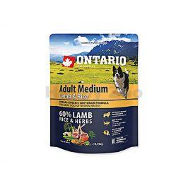 ONTARIO Adult Medium Lamb & Rice 0,75 kg