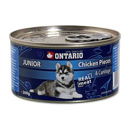 Konzerva ONTARIO Dog Junior Chicken Pieces & Cartilage 200g