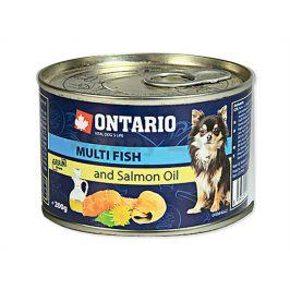 Konzerva ONTARIO Dog Adult Mini Multi Fish & Salmon Oil 200g