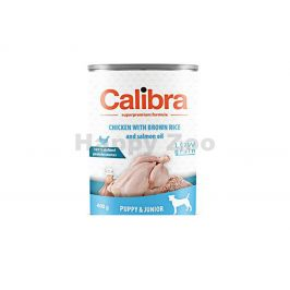 Konzerva CALIBRA Dog Puppy & Junior Chicken with Brown Rice and