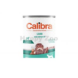 Konzerva CALIBRA Dog Sensitive Lamb and Salmon Oil 400g