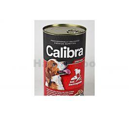 Konzerva CALIBRA Dog Premium Beef, Liver and Vegetable 1240g