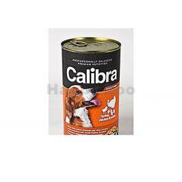 Konzerva CALIBRA Dog Premium Turkey, Chicken and Pasta 1240g