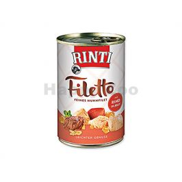 Konzerva RINTI Filetto - kuře a hovězí v želé 420g